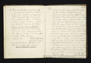 First transcriptions of Samuel Pepys's diary, John Smith, 1825, (c) By permission of the Master and Fellows of Magdalene College, Cambridge-3