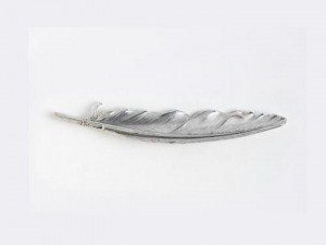Smooth+Feather+Brooch
