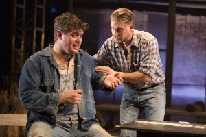 Kristian Phillips (Lennie) and William Rodell (George) in Of Mice And Men (2)