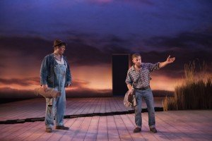 Kristian Phillips (Lennie) and William Rodell (George) in Of Mice And Men