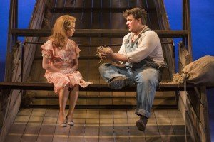 Saoirse-Monica Jackson (Curley's Wife) and Kristian Phillips (Lennie) in Of Mice And Men (3)