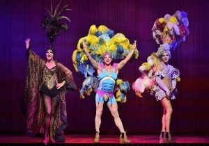 Simon Green as Bernadette, Duncan James as Tick, Adam Bailey as Felicia - Priscilla Queen of the Desert - The Musical - Photo credit Paul Coltas