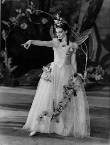 A Midsummer Nights Dream; by William Shakespeare Old Vic 1937. With Vivien Leigh as Titania. Photographer : J.W. Debenham