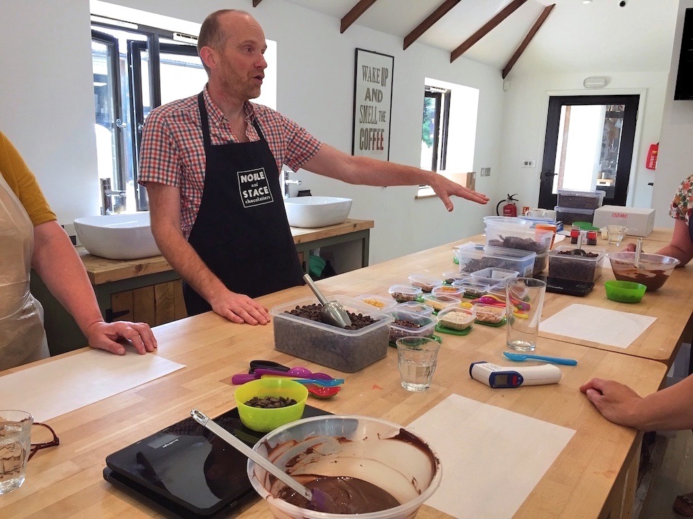 Noble and Stace workshops, chocolate making workshops, Sussex chocolate