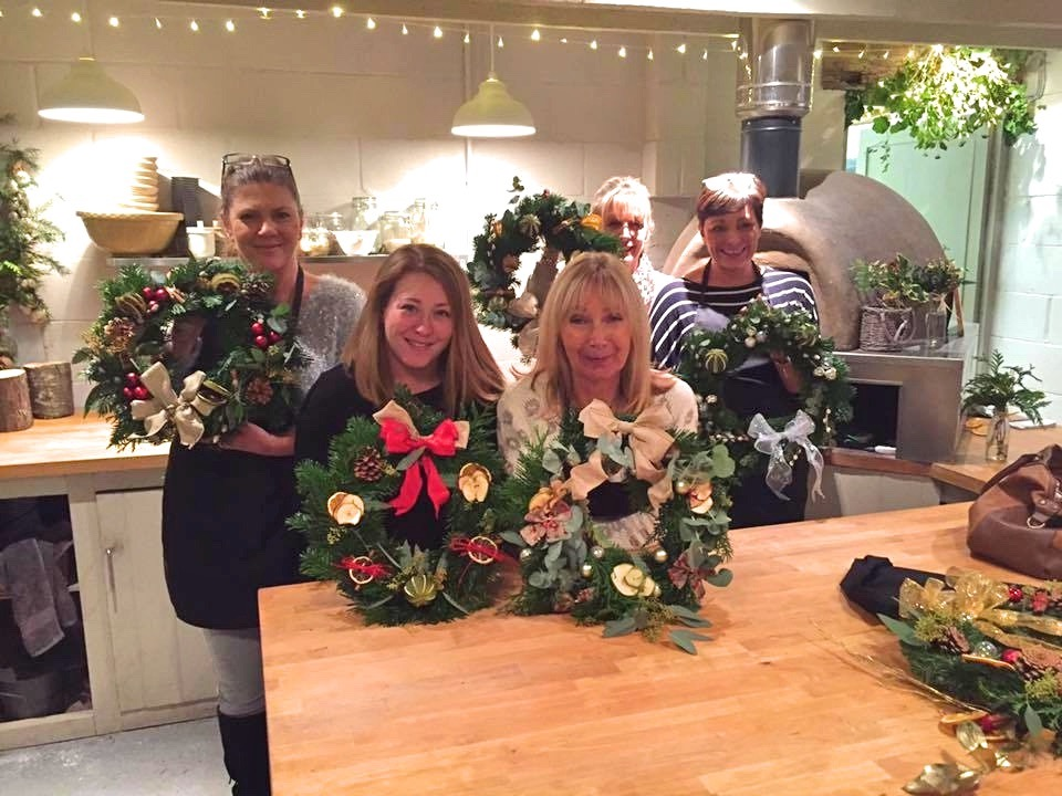 Xmas wreath workshops Sussex